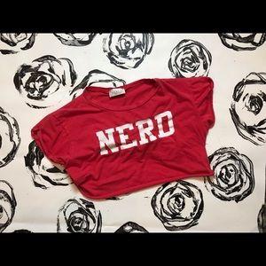 Crop top nerd shirt